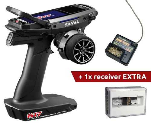Sanwa M17 Radio + 2x RX-491 Receiver & Preinstalled Battery
